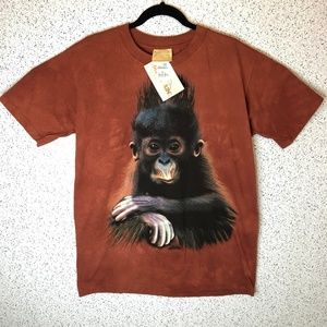 The Mountain Baby Monkey Graphic T Shirt